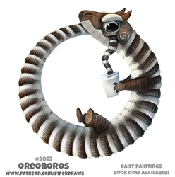Daily Paint 2012# Oreoboros by Cryptid-Creations