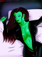 Sleeping  Gamora by bxBLAZExd