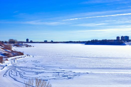 North Glenmore Park Frozen Glenmore Reservoir 2 by thefantasticone21