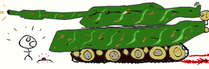 The intoxicated tank by Poowis