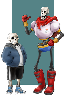 Sans And Papyrus by ifadko