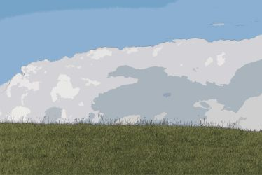 Hilltop and sky by Colin-Bentham