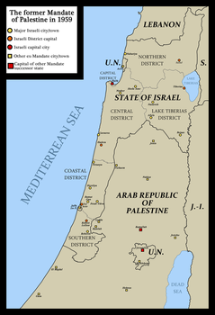 The former Mandate of Palestine in 1959 by FederalRepublic