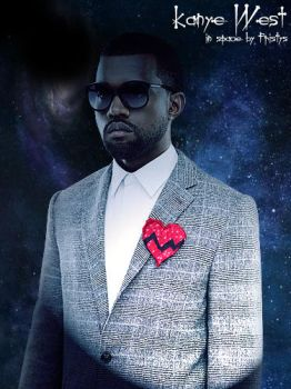 Kanye West in Space by Fr1stys