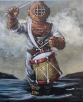 Deep Sea Diver with Drum by ShayHahn