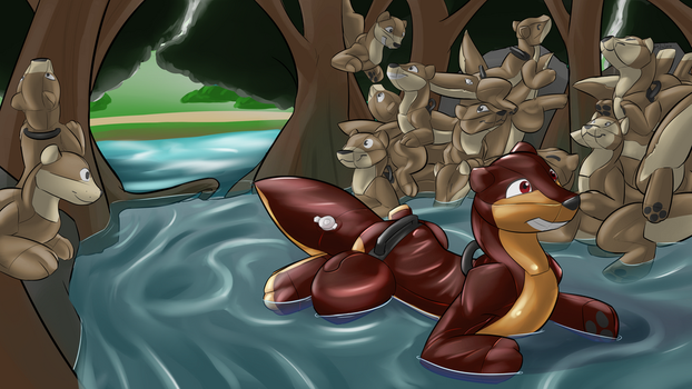 Commission - ForyOtter - Inflated curiosity 3/3 by Adalore