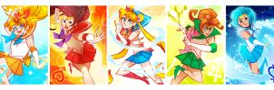 Sailor Scout Lineup by dou-hong