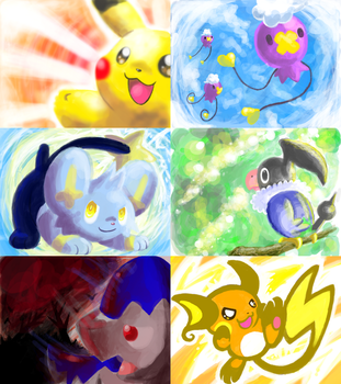 Pokemon DS Doodles by crayon-chewer