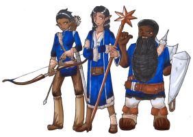 The Oracle and his Guards by Desi-Designs