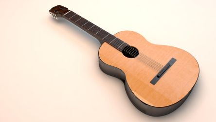 Realistic Guitar 3D model V1 by KhaledReese