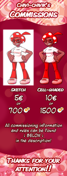Commissions are OPEN! - Price list by Chivi-chivik