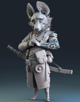 Lycon Pictus Sculpt by NBQuaternion