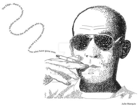 Hunter S. Thompson Typography by AbominableInk