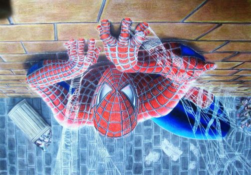 Spider Man art finished by Nathanm4