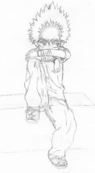 Hiei in street clothes by anime-realm