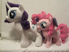 Rarity and filly Pinkie pie by Little-Broy-Peep