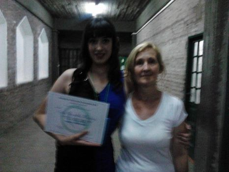 My mother and me at the graduation by violetasilvestre2011