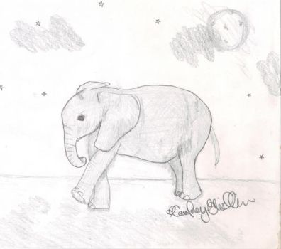 Baby Elephant by GenerationGwilly