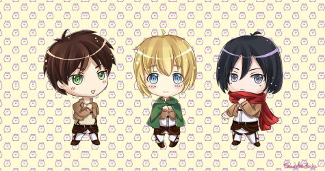 SnK: Chibi Stickers~ by SnowWhiteBirdie