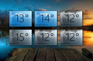 Weather Gadget for xwidget by Jimking
