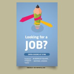 Looking for job vector poster by Vectorportal