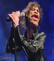 Mick Jagger by wooden-horse