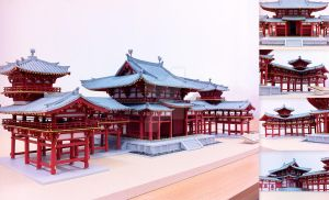 1:70 Scale Model of Phoenix Hall - Byodo-in Temple by Syst2m