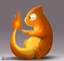 Kanto - Charmander by ArtKitt-Creations