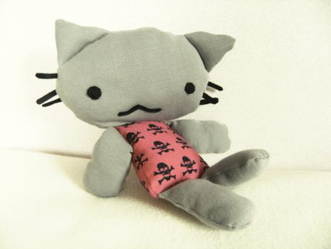 grey kitty plush by Ritzylicious