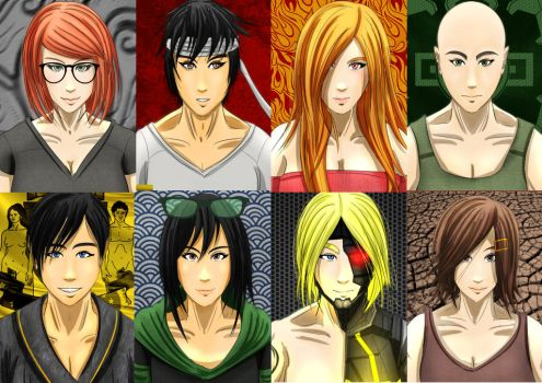 Main Characters of The Silent Assassin series by the-silentassassinAP