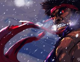 Evil Ryu retouch by ibroid