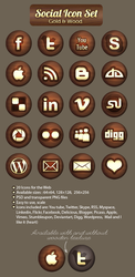 Free Social Icon set by oxanaart