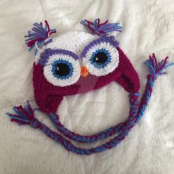 Owl hat for one year old by Dragon620026