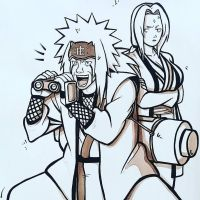 Jiraiya and Tsunade - Sannis by ArTestor
