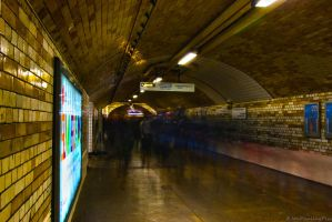 Ghosts of a London Subway by Mincingyoda