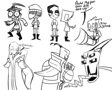 InvaderZim headcanon doodles by ReneesInnerIrken