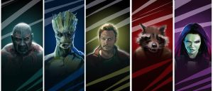 Guardians Of The Galaxy by KamilPr
