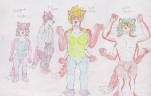 Devlins various forms coloured by WhippetWild