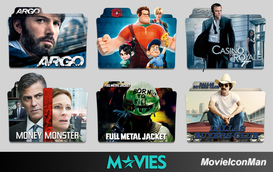 Random Movies Folder Icon Pack #6 by MovieIconMan