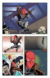 Red Hood vs Venom comic page 4 colors by Zaatis