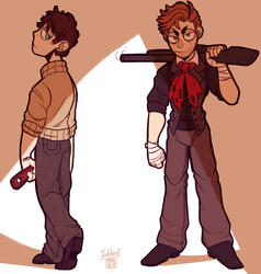 Booker and Jack by TODD-NET