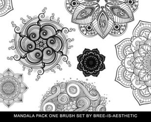 Mandala Brush Pack 1 by Bree-is-aesthetic by Bree-is-aesthetic