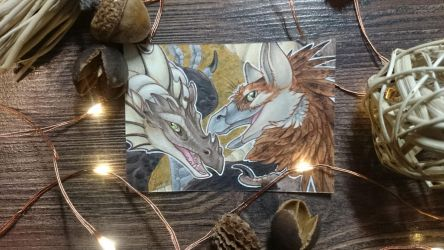 ACEO - CristaDuo and Ferris by BloodhoundOmega