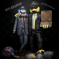 True Pimps: Hitlerspimp and gold94chica by gold94chica