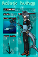 ::aquatic humans::Adan Ryutho Hunther by gisselle50