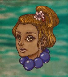 Girl with flower in her hair by Tirena