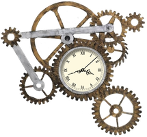 Steampunk Gear Clock XWidget by Adiim