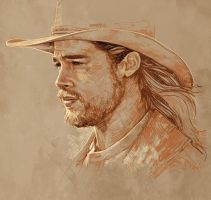 Daily Sketch 04: Brad Pitt in Legends Of The Fall by artandwine365