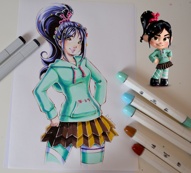 Vanellope from Wreck it Ralph by Lighane
