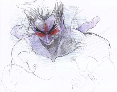 pencil colour devil by JUSTINQ88